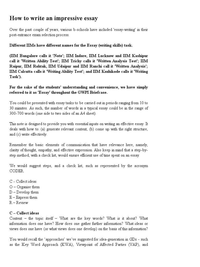 iim lucknow essay topics