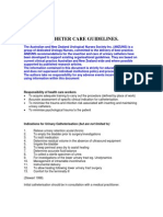 Catheter Care Guidelines  (by ANZUS)