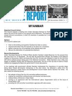 Update Report 22 Nov 2006_Myanmar