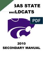 2010 Kansas State University Secondary Manual