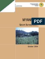 UN Report- Myanmar Opium Survey - Oct 2004