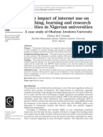 The impact of internet use on