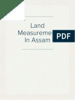 Land MeasureMent In Assam