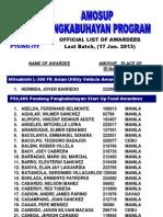 AMOSUP Pangkabuhayan Program Awardees - Last Batch