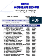 AMOSUP Pangkabuhayan Program Awardees - Last Batch