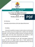 President Oscar Temaru speech - Ny Nam Cob Meeting