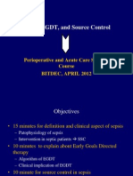 Sepsis, EGDT, And Source Control APRIL 2012(Dr.sudarsa)