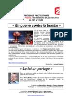 En guerre contre la Bombe - Dimanche 27 janvier France 2