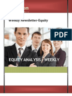 WEEKLY NEWSLETTER EQUITY 21Jan2013