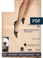 poster for Scattered Order, Makers DTF, A Slow Rip gig