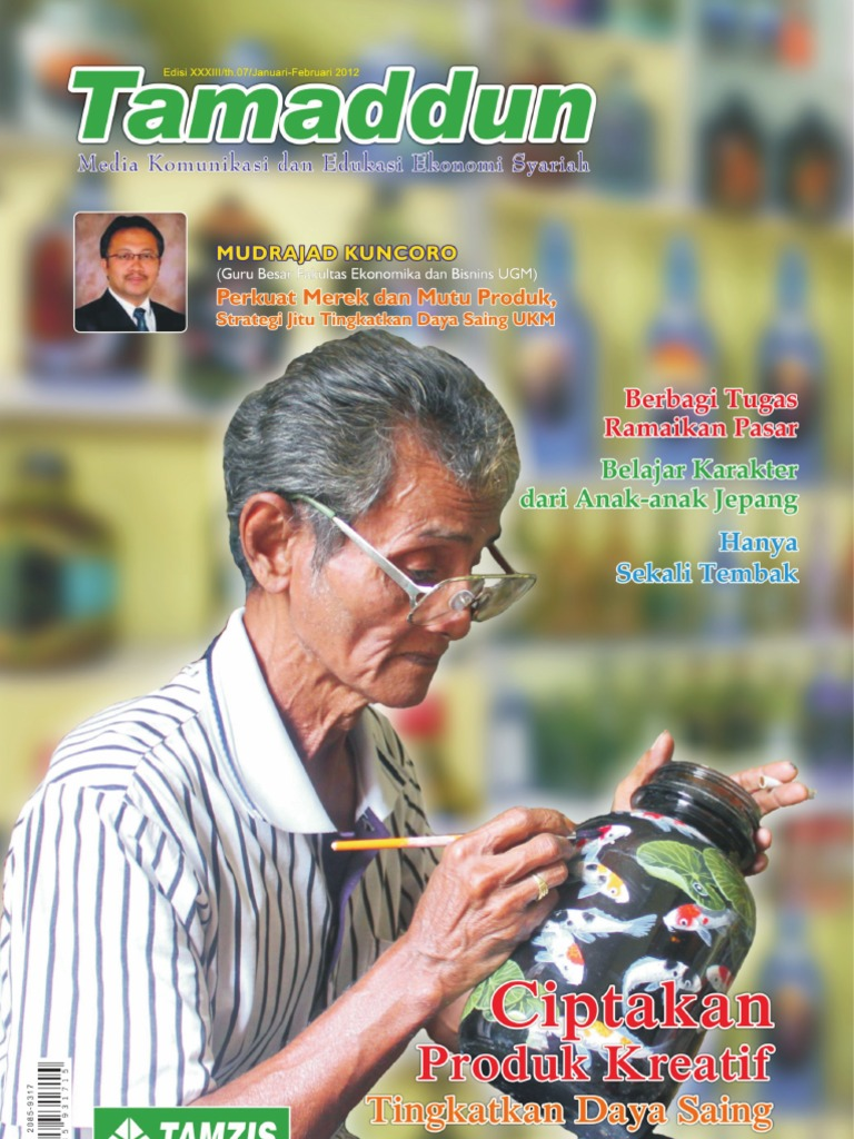 Majalah Tamaddun Tamzis Edisi Jan Feb 2012 Bri Produk Ukm Bumn Tas Kulit Speedy