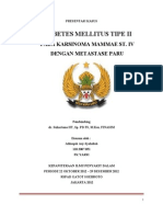 Diabetes Mellitus tipe 2 pada penderita karsinoma mammae stadium 4
