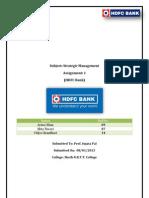 Startegic mgmt. of HDFC Bank