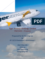 Financial Analysis of Tiger Airways 2012