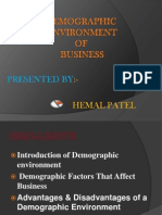 Demographic environment of business