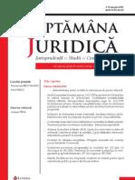 REVISTA SAPTAMANA JURIDICA