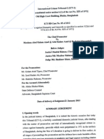 Verdict of War crime Bangladesh