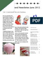 Friend to Friend Newsletter June 2012