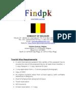 Belgium Visit Visa information