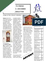 Friend To Friend Newsletter November to December 2012