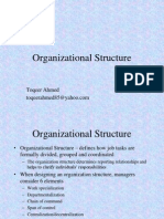 Organizational Behaviour Chapter 12 - Organizational Structure