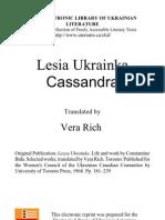 Lesya Ukrainka - Cassandra
