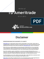 Review of TD Ameritrade 2013