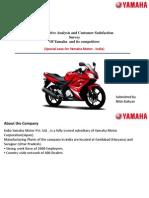 Project on competative analysis and customer satisfaction of yamaha
