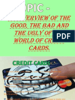 good bad and worst of credit cards