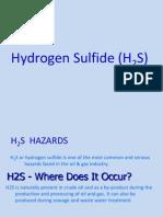 Hazards of hydrogen sulphide