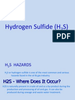 Hazards of hydrogen sulphide