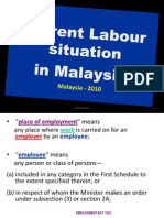 labour situation in m'sia