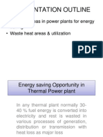 Energy Consevation in Power Plants