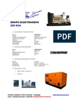 250 KVA DG SPECIFICATIONS
