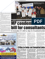 TUSC NHS lobby Rotherham Advertiser inside page 4.