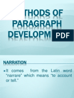 methods of paragraph development