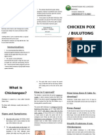 Chickenpox Pamphlet (Tagalog)