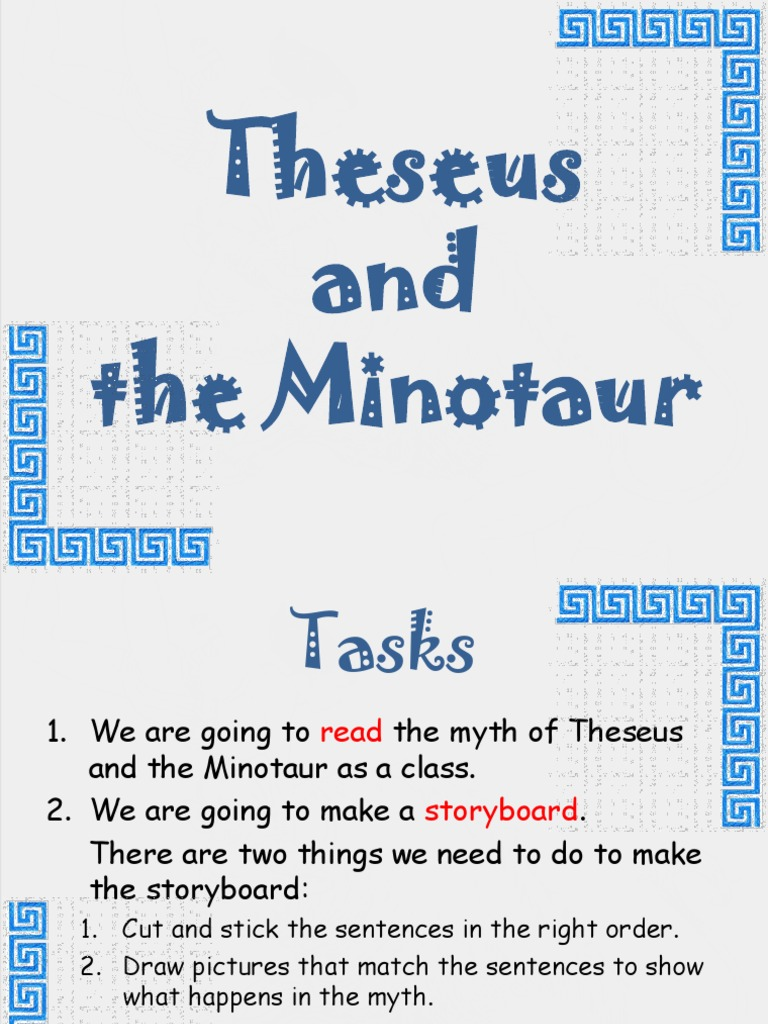 Theseus And The Minotaur Story Minotauro Teseu