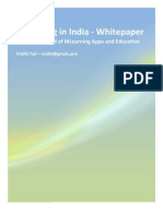 Mlearning in India - Whitepaper - By Vridhi Tuli