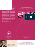 Planned Parenthood What Every Parent, Teacher, Woman, Community Leader and Elected Official Needs to Know