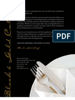 Black and Gold Catering Menu
