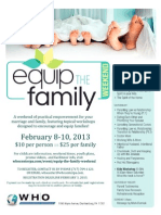 Equip the Family Workshop Weekend