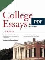 College Essays that Matter