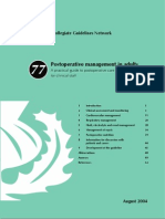 Postoperative management in adults