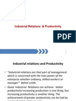 Industrial Relations Productivity