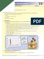Kindergarten and 1st Grade Phonological Awareness Phoneme Segmentating Blending