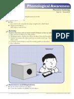 Kindergarten and 1st Grade Phonological Awareness Isolating Matching