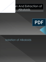 Isolation and extraction of Alkaloids