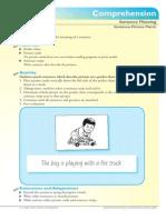 Kindergarten and 1st Grade Comprehension
