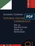 Coseriu - Istoria filosofiei limbajului (introducere, cuprins)
